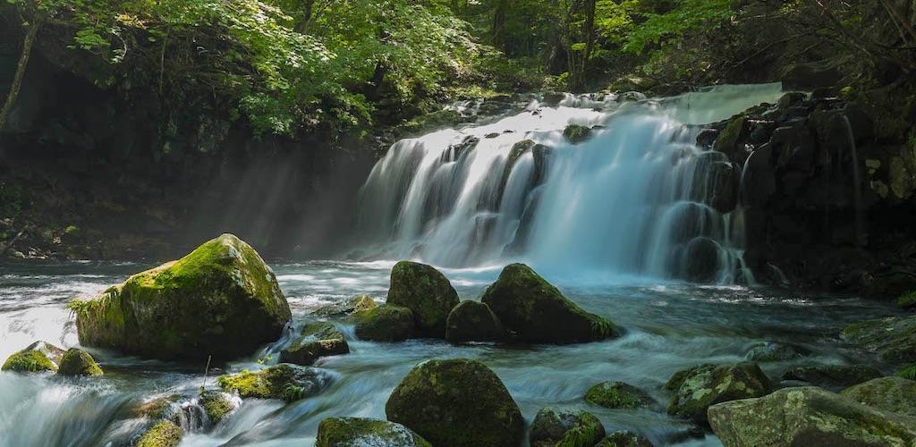 蓼科大滝は苔と岩が作り出す幻想的な滝で穴場的な存在の絶景