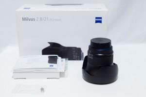 広角レンズのカールツァイスMilvus 2.8/21mm