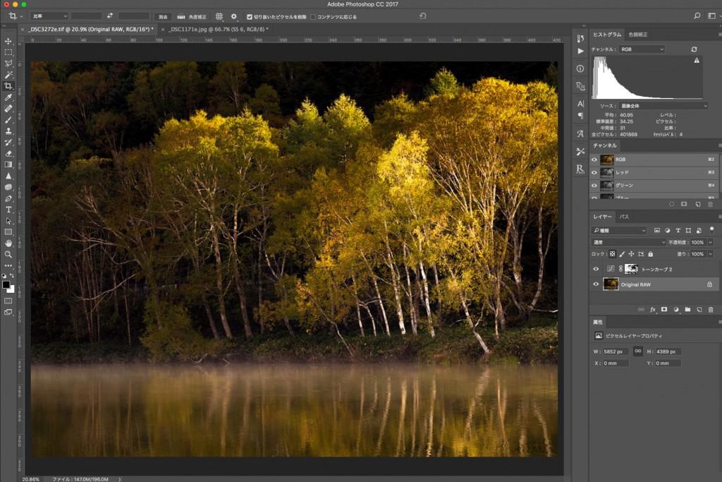 Photosohpの色域指定で選択範囲を作る方法