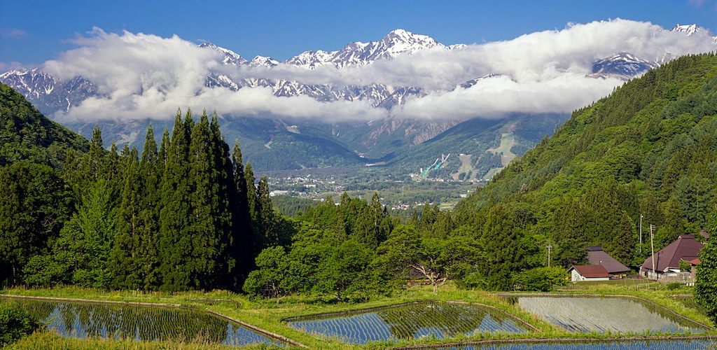 青鬼集落の棚田と古民家は美しい魅力的な白馬村の有名観光名所